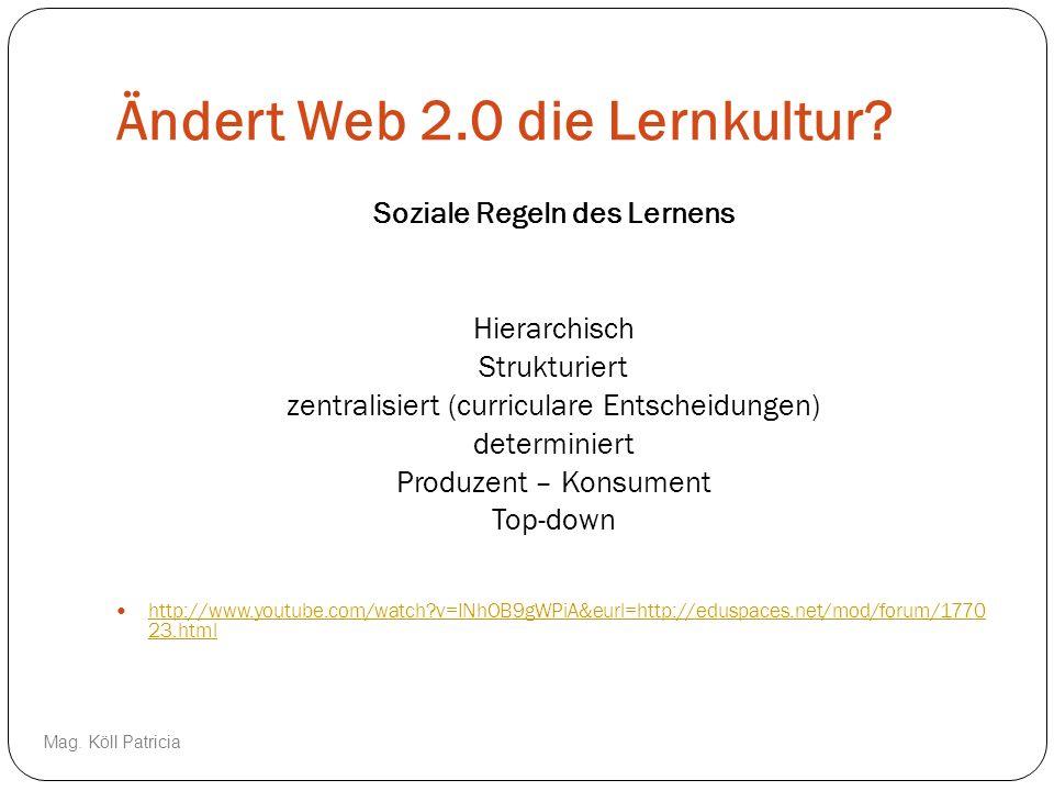 Ändert Web 2.0 die Lernkultur