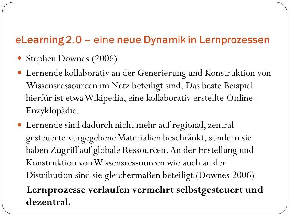 eLearning 2.0 – eine neue Dynamik in Lernprozessen