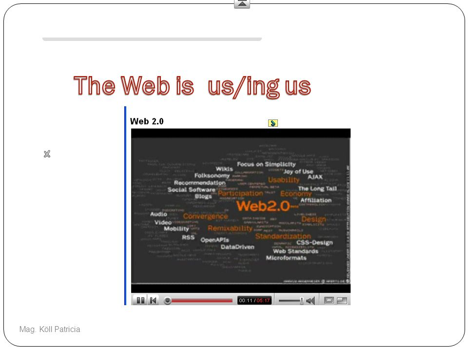 The Web is us/ing us This is a video response to Web 2.0