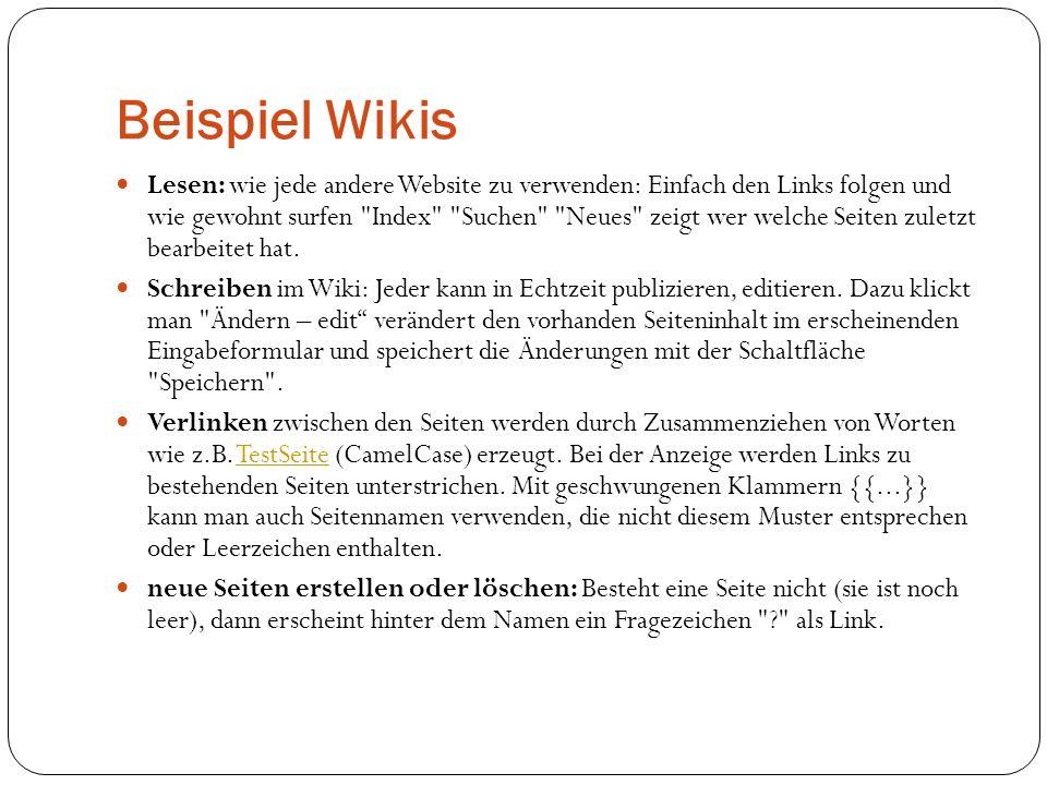 Beispiel Wikis
