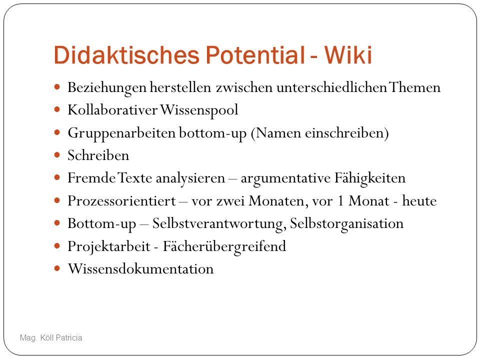 Didaktisches Potential - Wiki