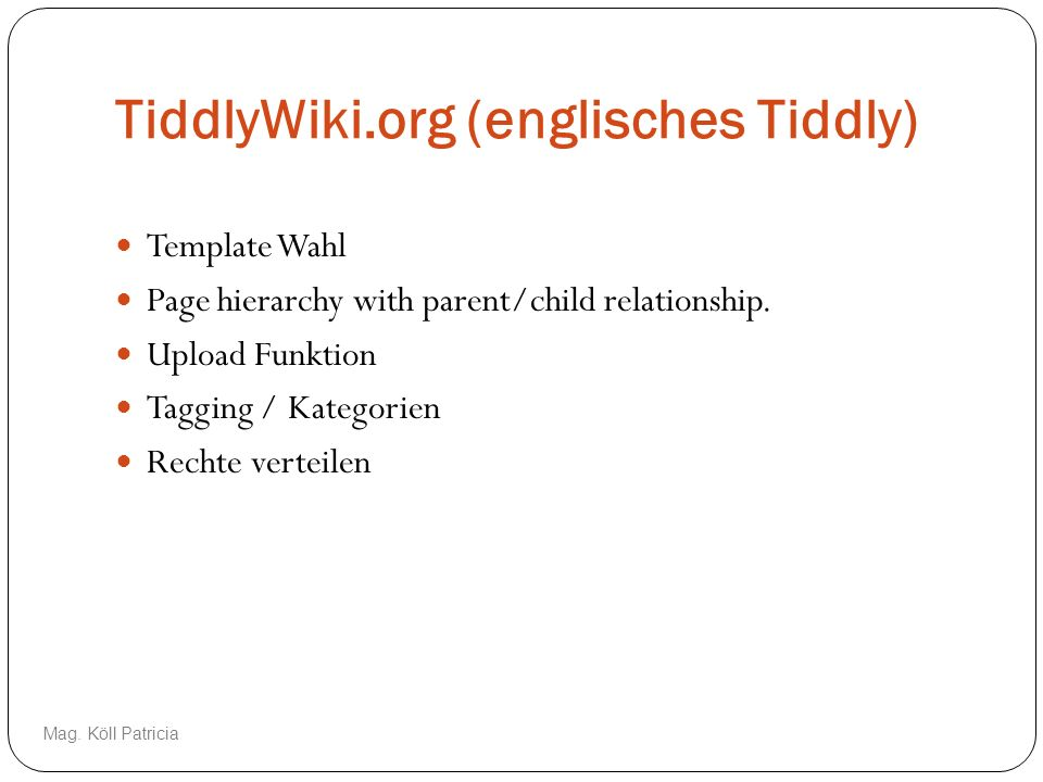 TiddlyWiki.org (englisches Tiddly)