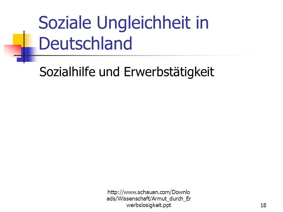 Soziale Ungleichheit in Deutschland