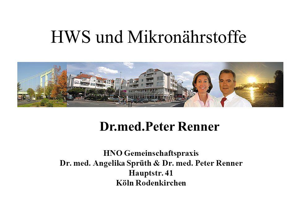 HWS und Mikronährstoffe
