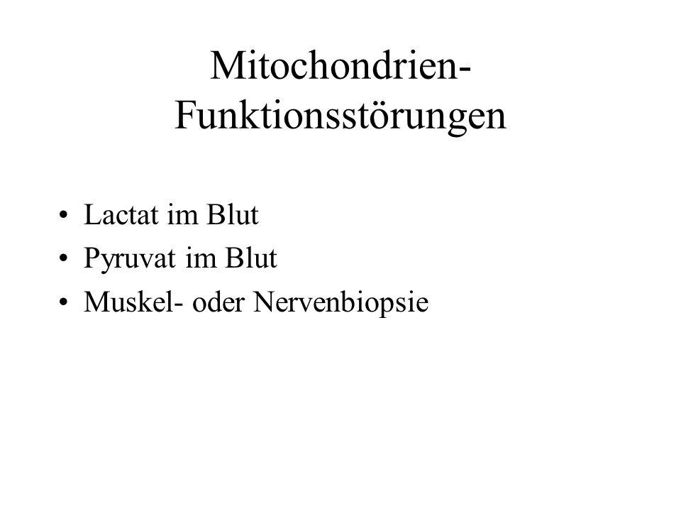 Mitochondrien- Funktionsstörungen