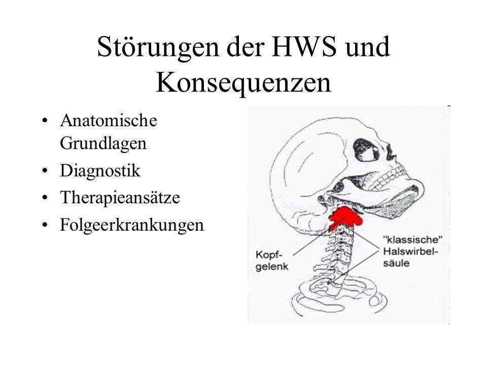 Störungen der HWS und Konsequenzen