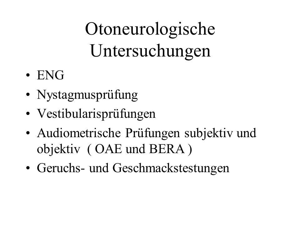 Otoneurologische Untersuchungen