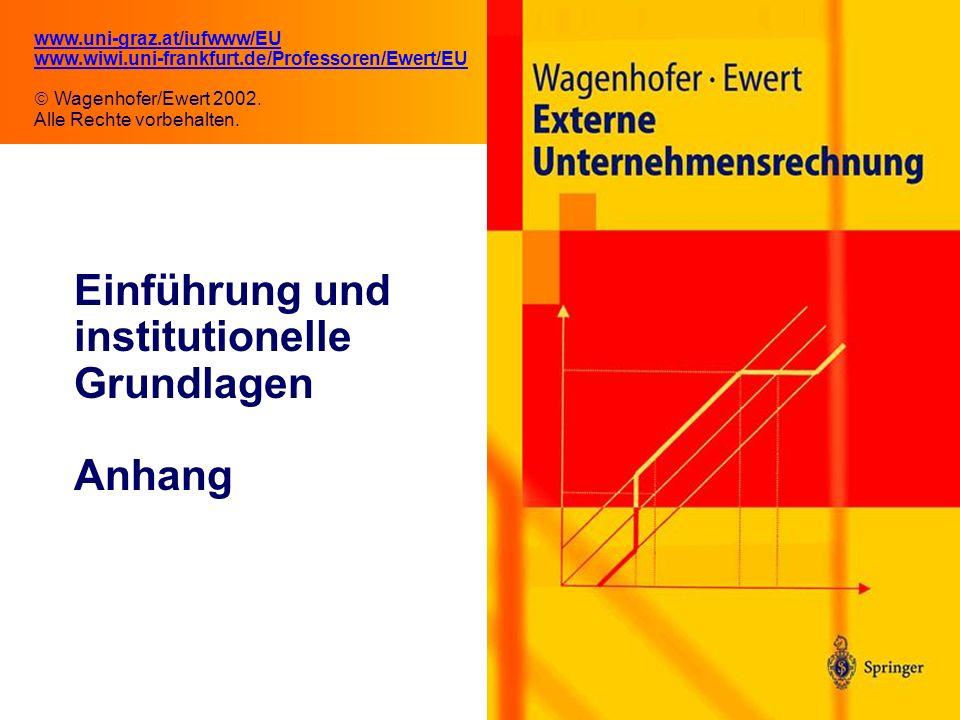 Einführung und institutionelle Grundlagen Anhang