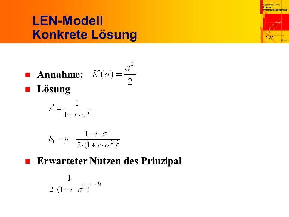 LEN-Modell Konkrete Lösung