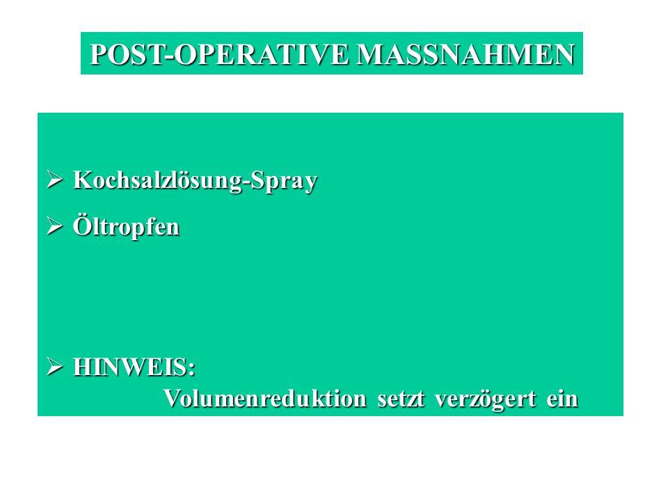 POST-OPERATIVE MASSNAHMEN