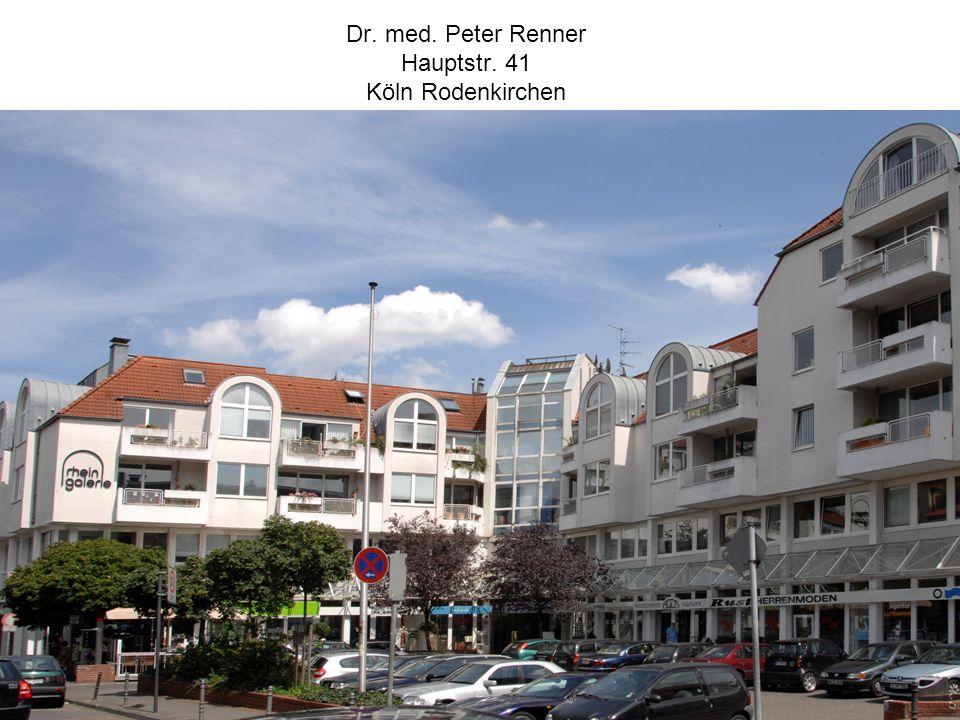 Dr. med. Peter Renner Hauptstr. 41 Köln Rodenkirchen