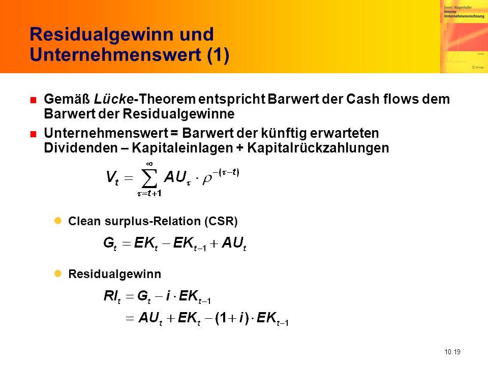 Residualgewinn und Unternehmenswert (1)