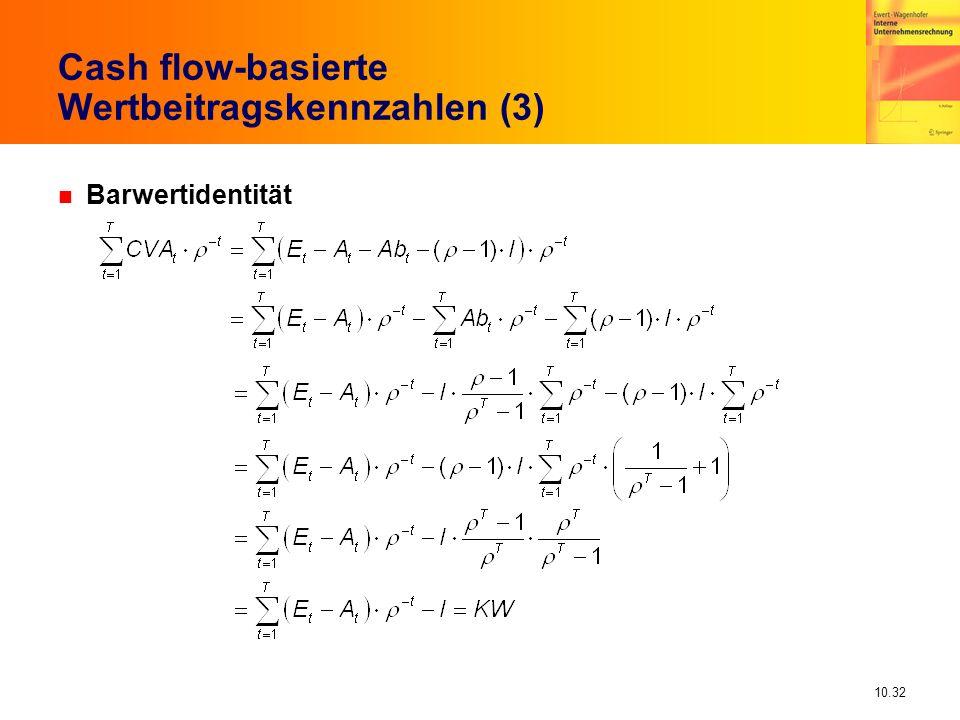 Cash flow-basierte Wertbeitragskennzahlen (3)