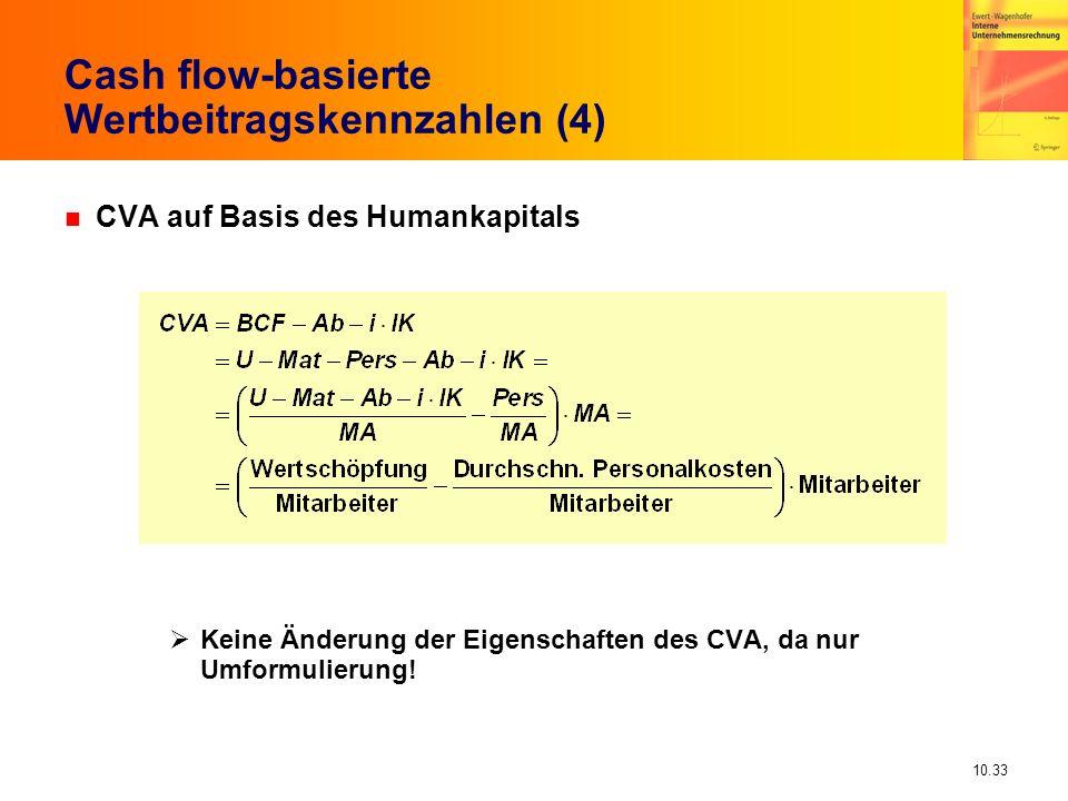 Cash flow-basierte Wertbeitragskennzahlen (4)