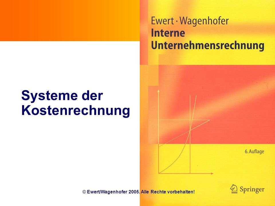Systeme der Kostenrechnung