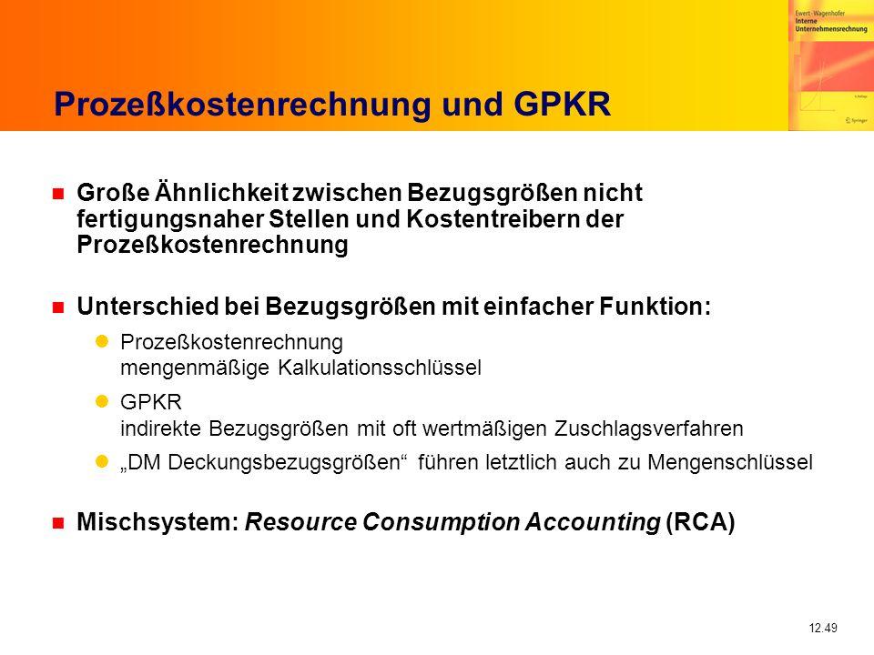 Prozeßkostenrechnung und GPKR
