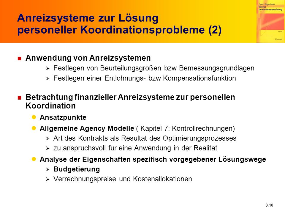 Anreizsysteme zur Lösung personeller Koordinationsprobleme (2)