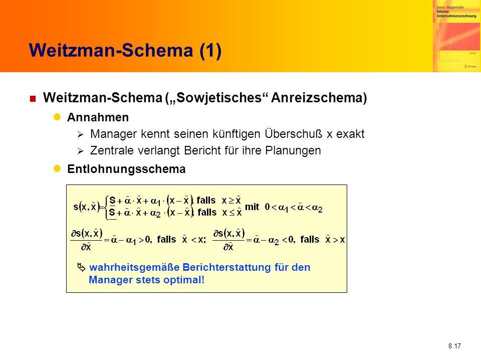 """Weitzman-Schema (1) Weitzman-Schema (""""Sowjetisches Anreizschema)"""