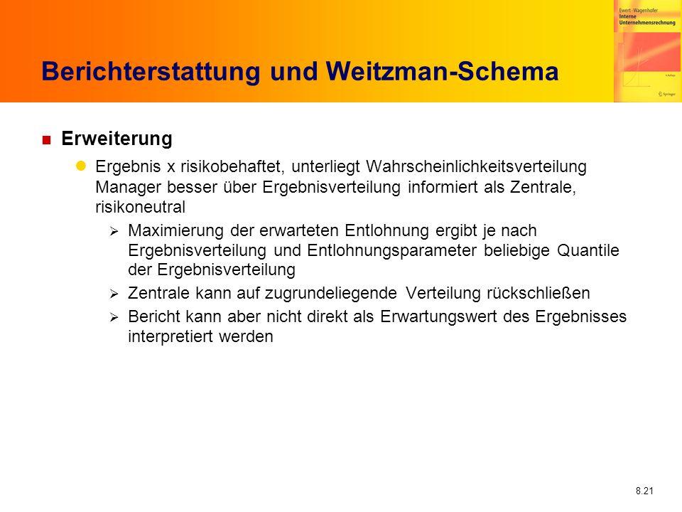 Berichterstattung und Weitzman-Schema