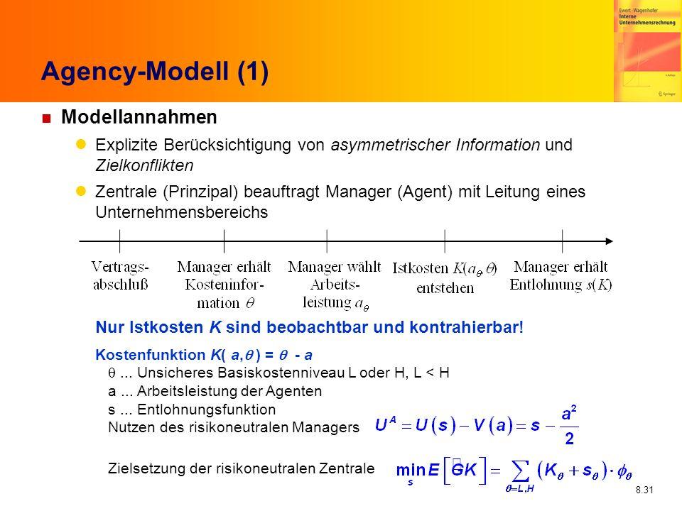 Agency-Modell (1) Modellannahmen