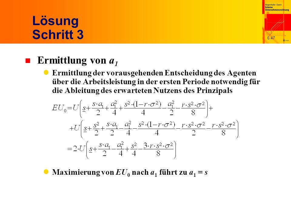 Lösung Schritt 3 Ermittlung von a1