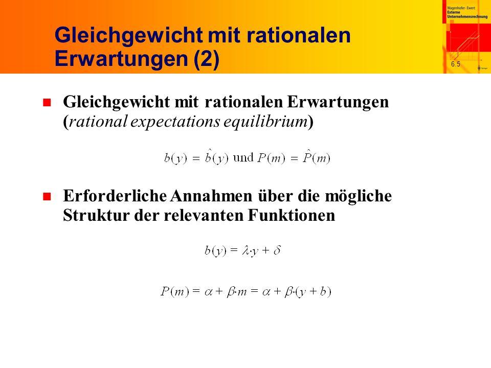 Gleichgewicht mit rationalen Erwartungen (2)