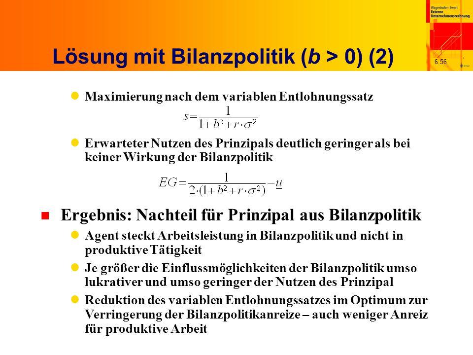 Lösung mit Bilanzpolitik (b > 0) (2)