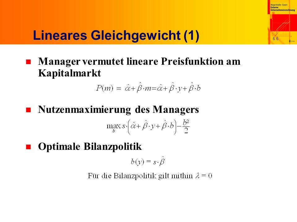 Lineares Gleichgewicht (1)
