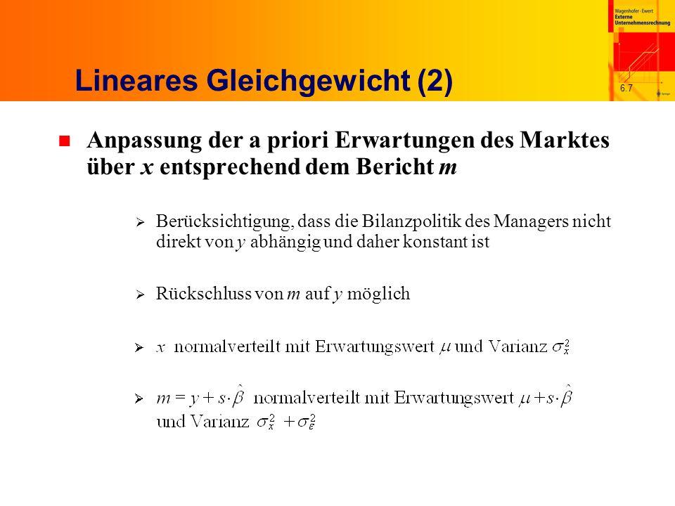 Lineares Gleichgewicht (2)