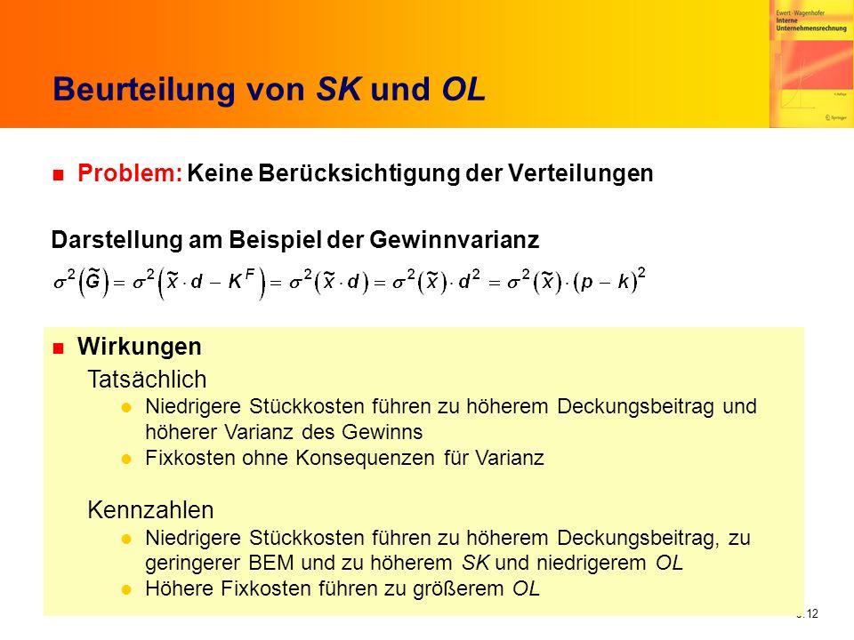 Beurteilung von SK und OL