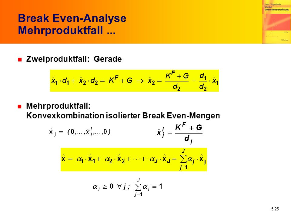 Break Even-Analyse Mehrproduktfall ...