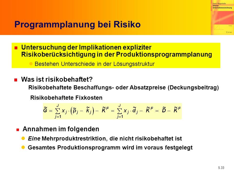 Programmplanung bei Risiko