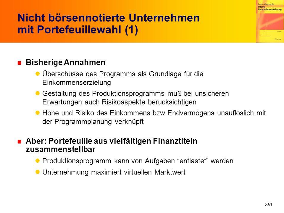 Nicht börsennotierte Unternehmen mit Portefeuillewahl (1)