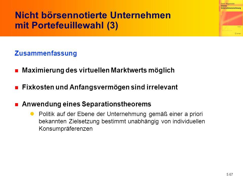 Nicht börsennotierte Unternehmen mit Portefeuillewahl (3)
