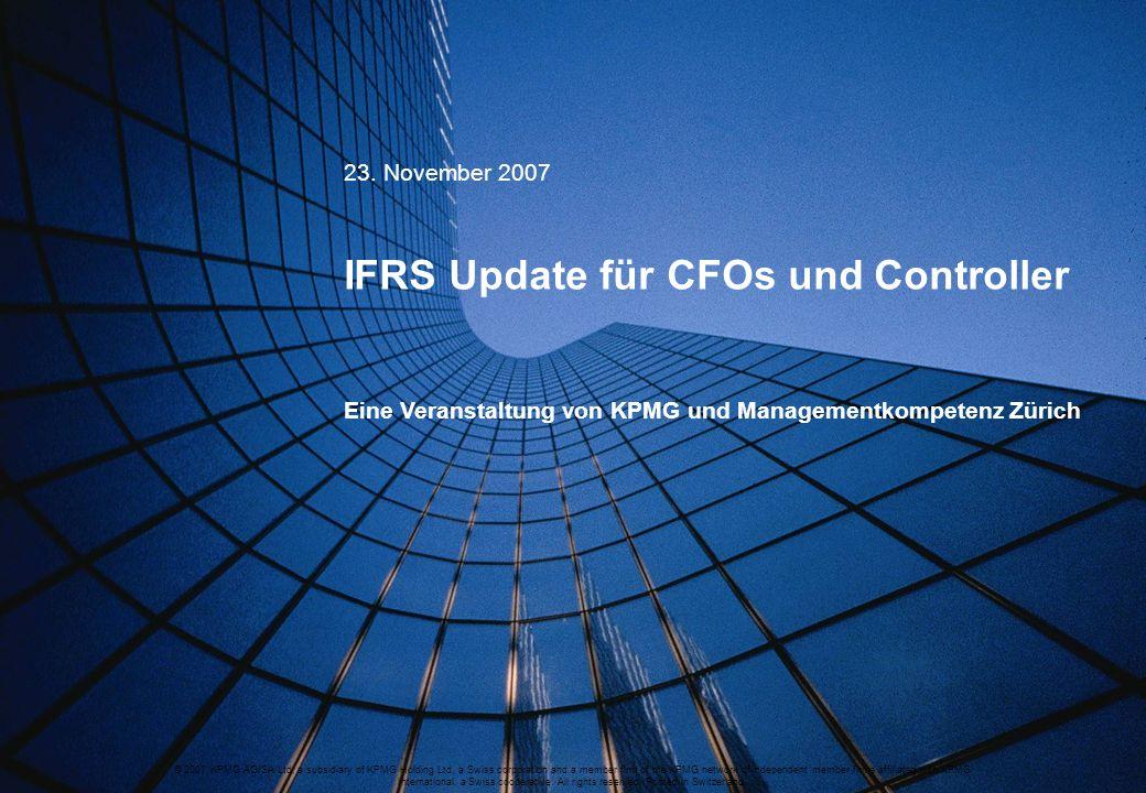 IFRS Update für CFOs und Controller
