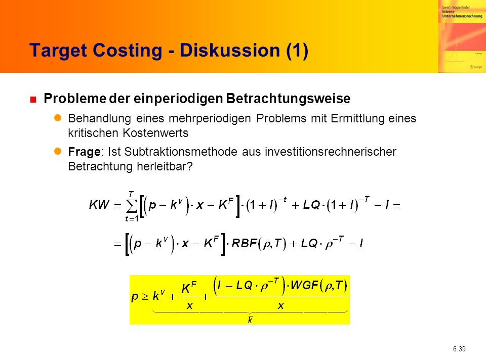 Target Costing - Diskussion (1)