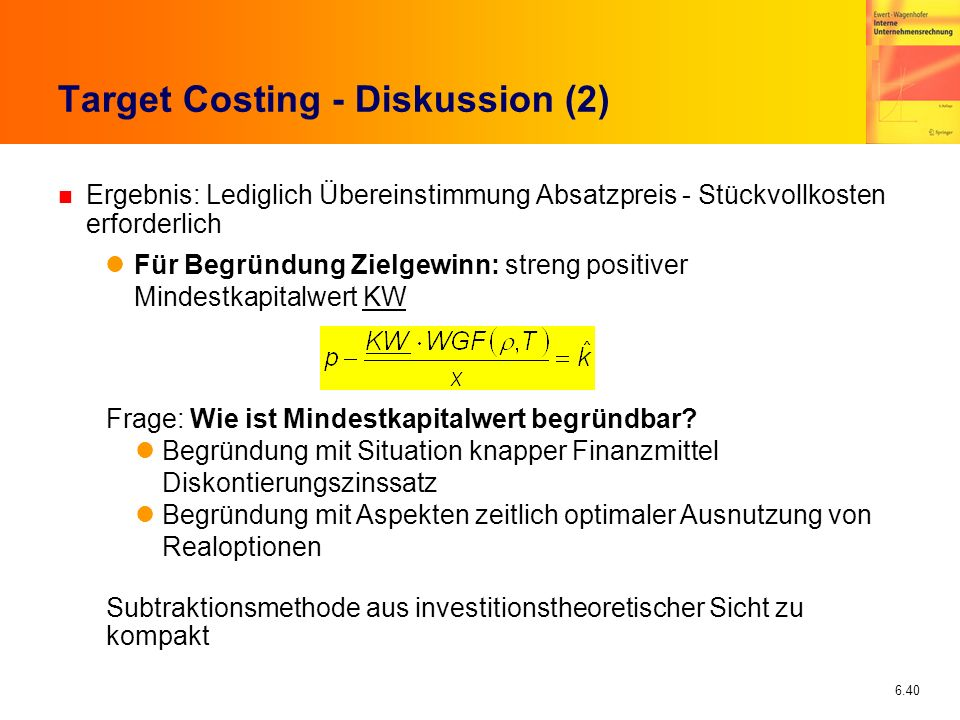 Target Costing - Diskussion (2)