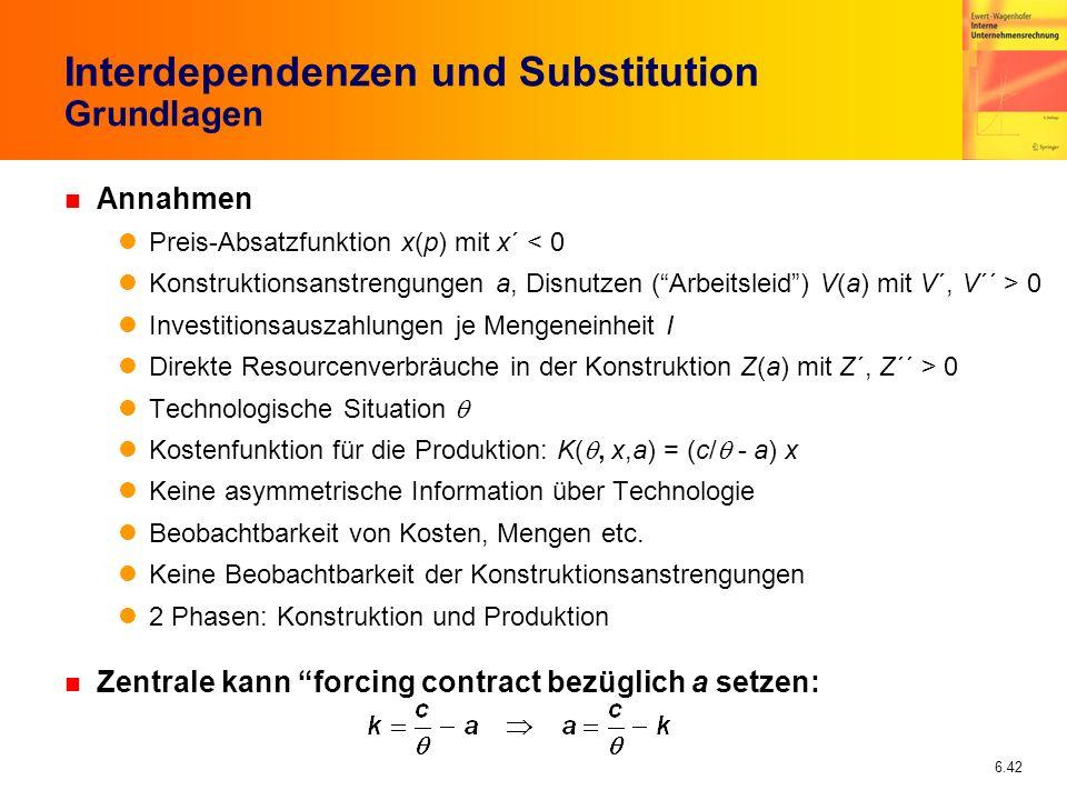 Interdependenzen und Substitution Grundlagen