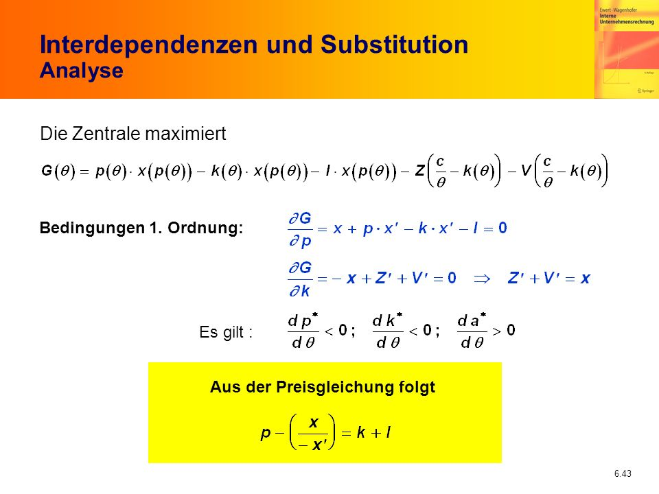 Interdependenzen und Substitution Analyse