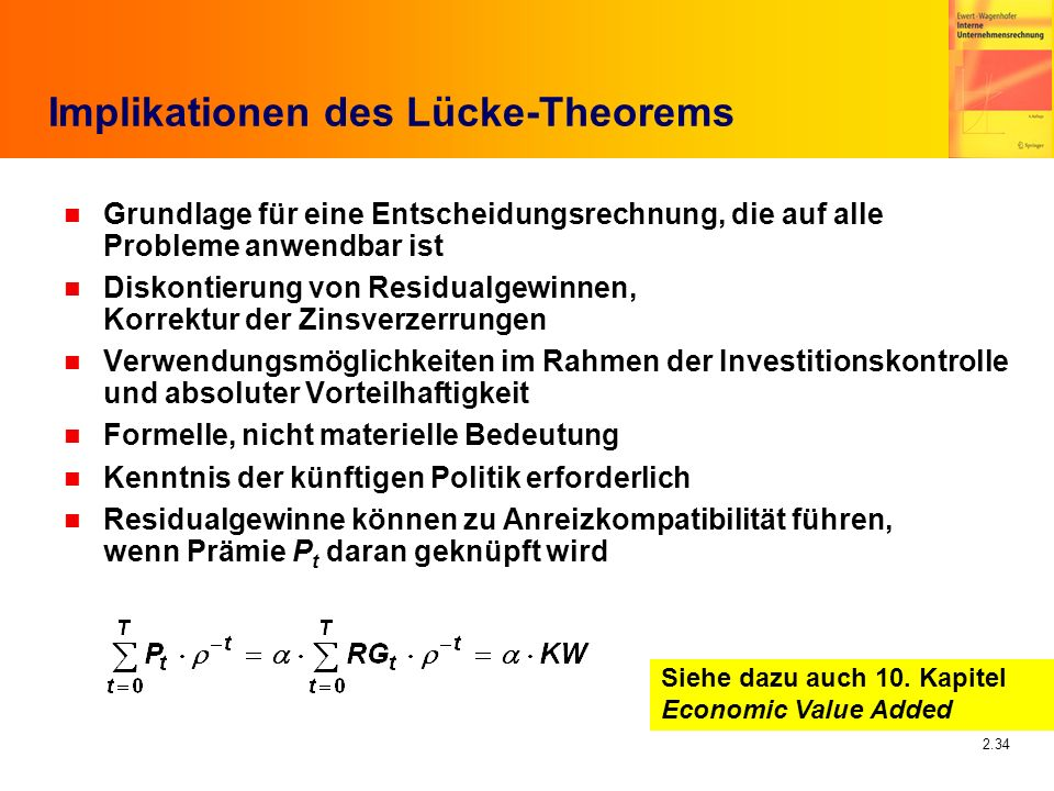 Implikationen des Lücke-Theorems