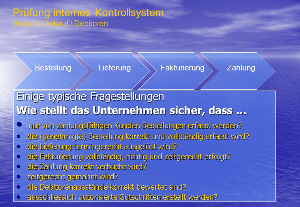 Prüfung internes Kontrollsystem
