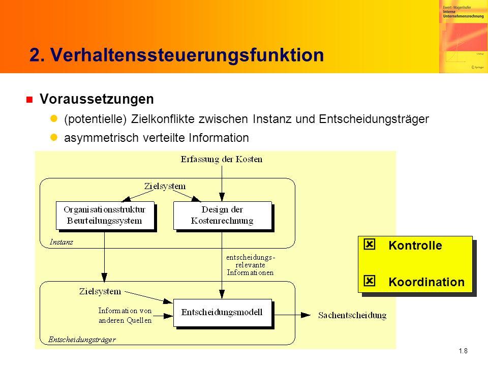 2. Verhaltenssteuerungsfunktion