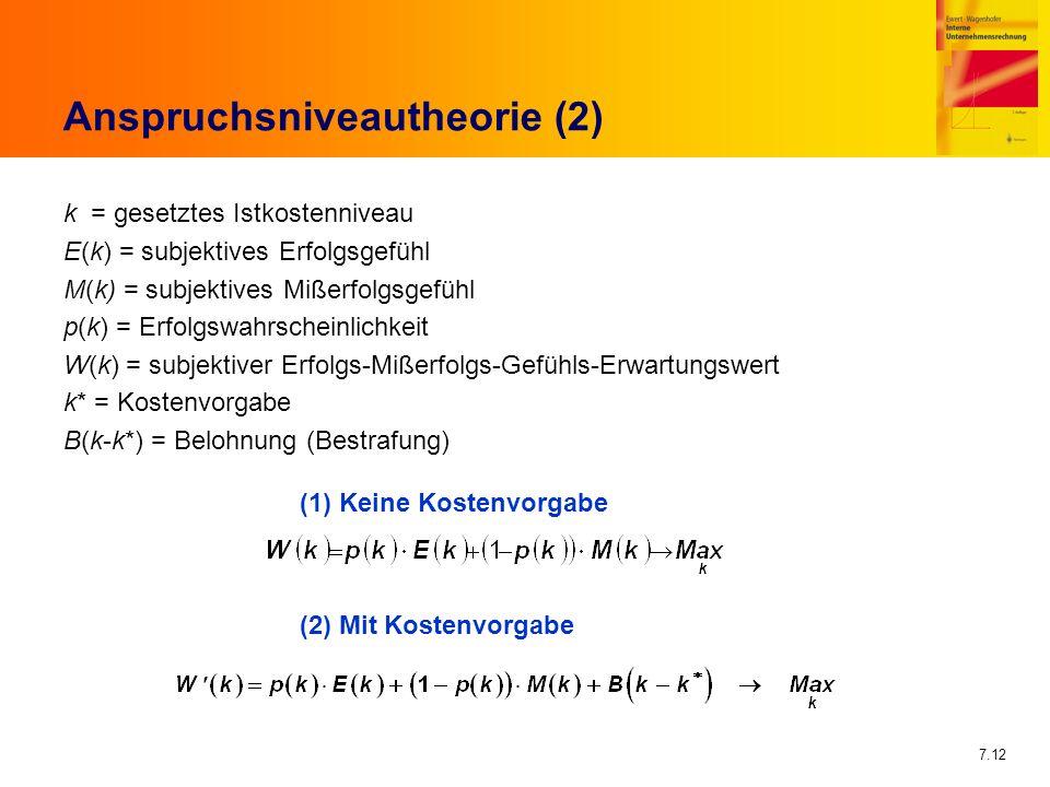 Anspruchsniveautheorie (2)