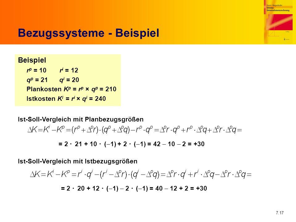 Bezugssysteme - Beispiel