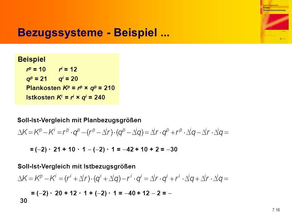 Bezugssysteme - Beispiel ...