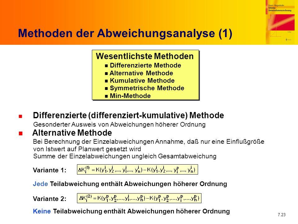 Methoden der Abweichungsanalyse (1)