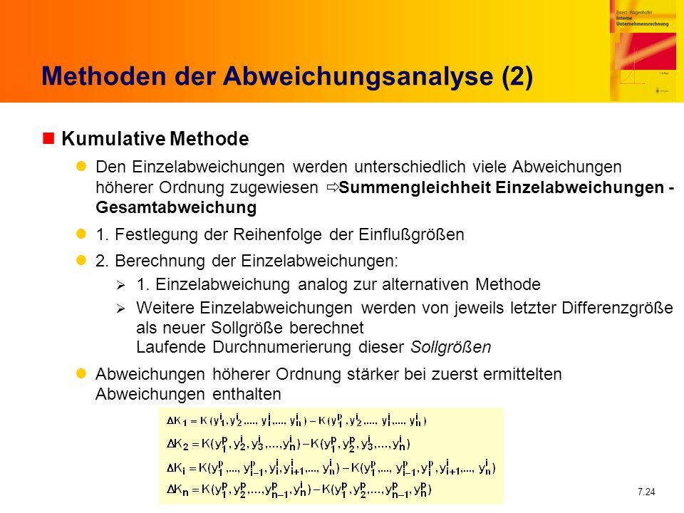 Methoden der Abweichungsanalyse (2)