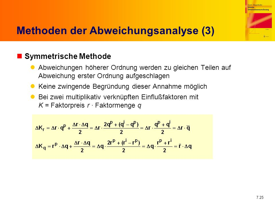 Methoden der Abweichungsanalyse (3)