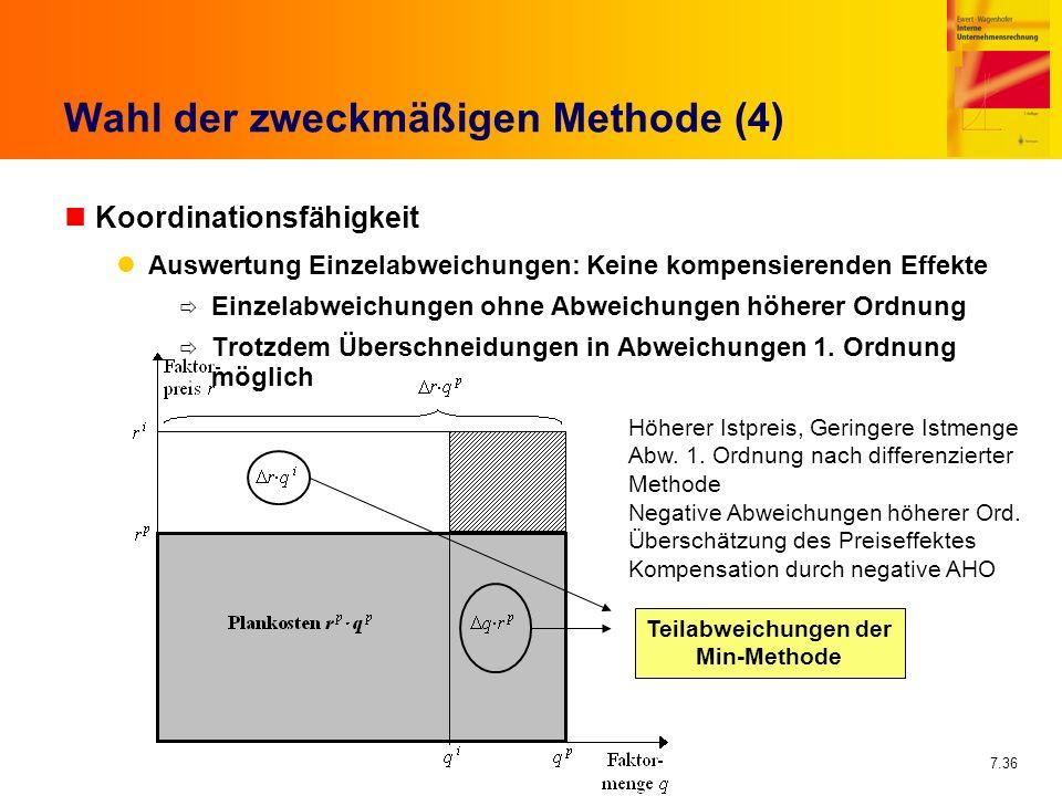 Wahl der zweckmäßigen Methode (4)