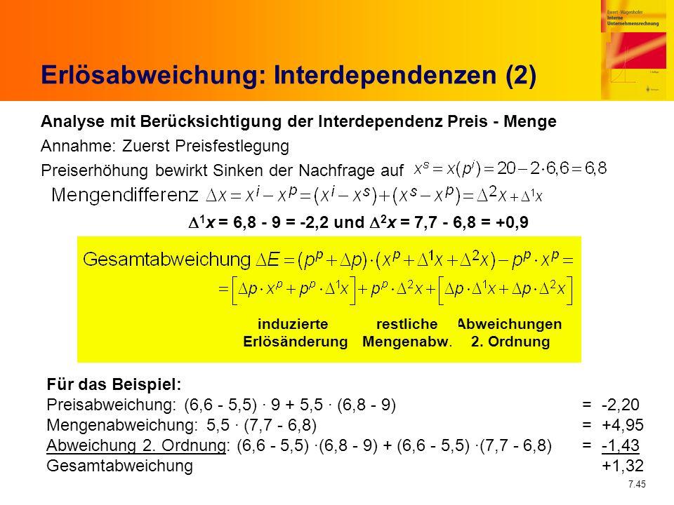 Erlösabweichung: Interdependenzen (2)
